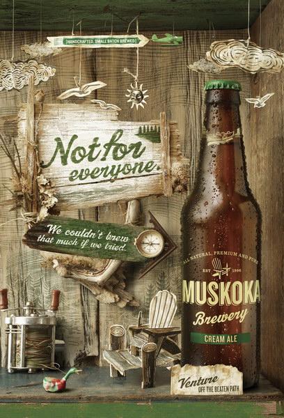 马斯科卡啤酒平面广告