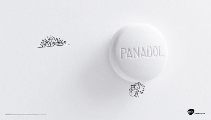 普拿疼药品平面广告