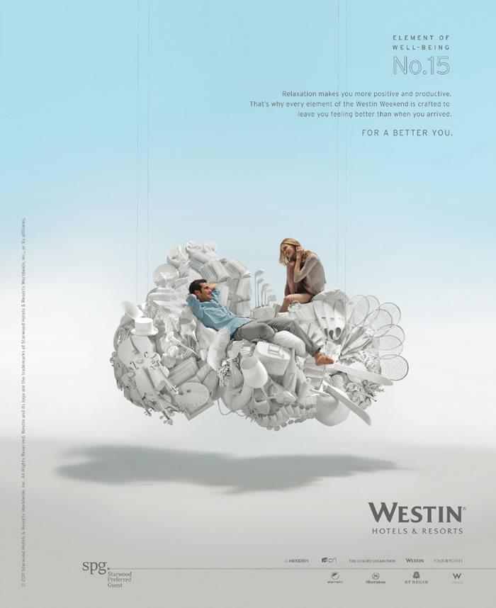 威斯汀酒店平面广告