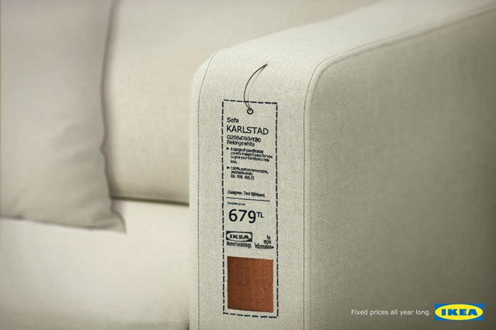 宜家沙发平面广告