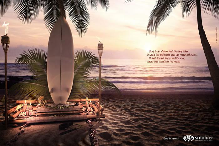 冲浪运动平面广告