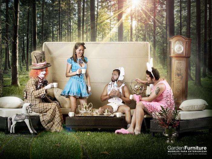 花园家具广告