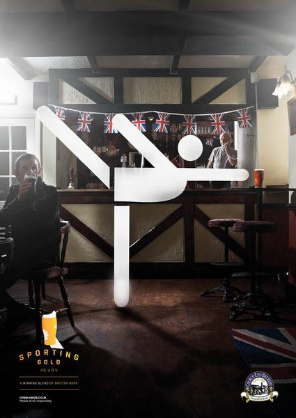 教会啤酒平面广告