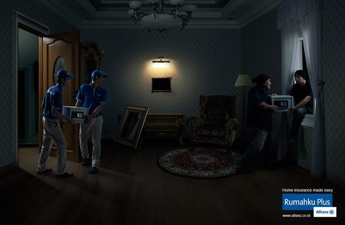 安联保险平面广告