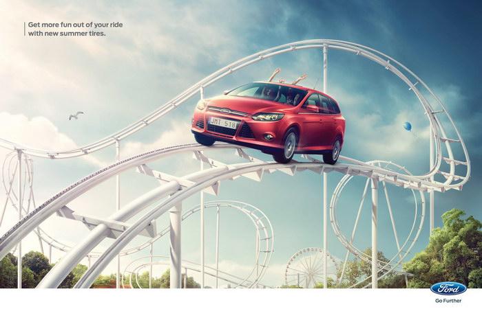 福特汽车平面广告