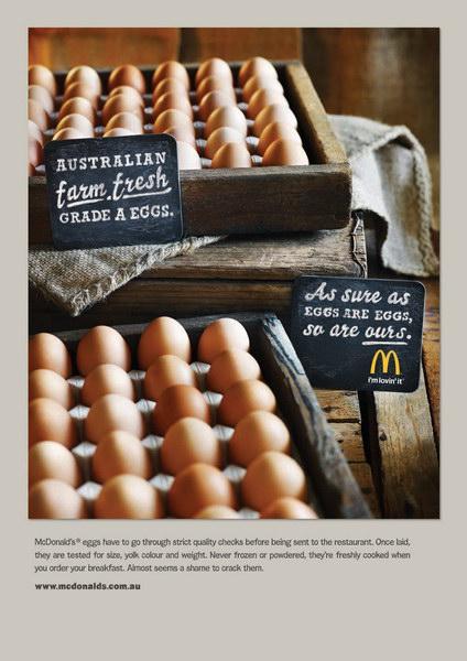 麦当劳食品平面广告