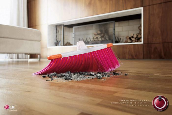 LG吸尘器平面广告