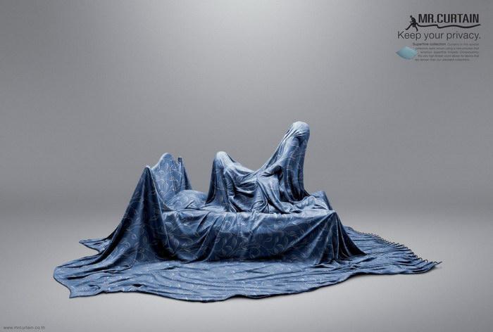 窗帘平面广告