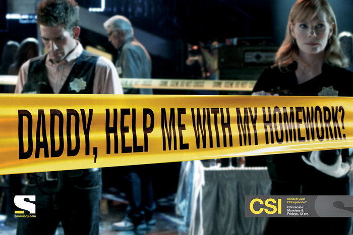 CSI美剧平面广告