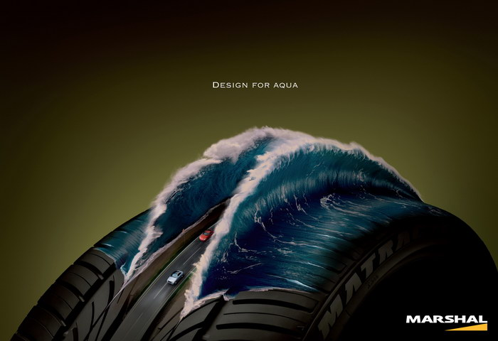 锦湖轮胎平面广告