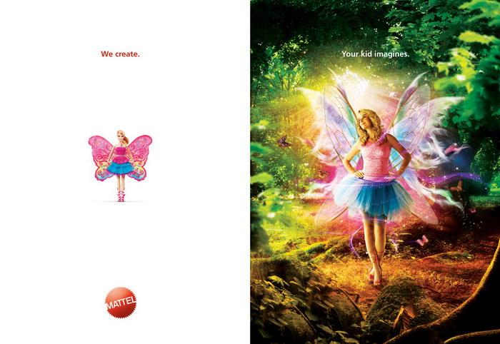 美泰玩具平面广告