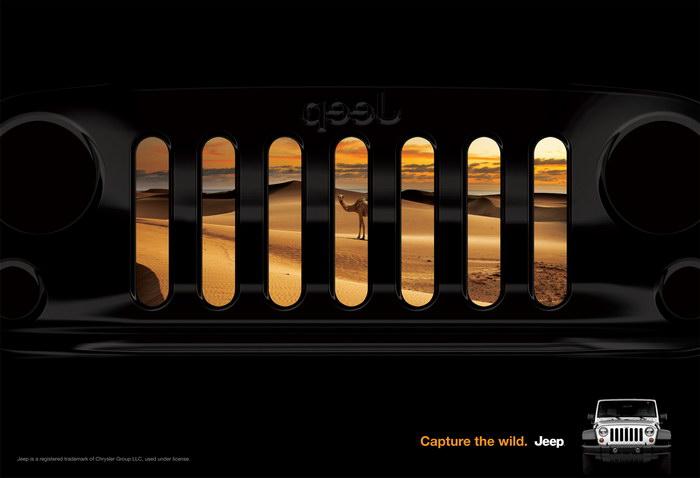 吉普汽车平面广告