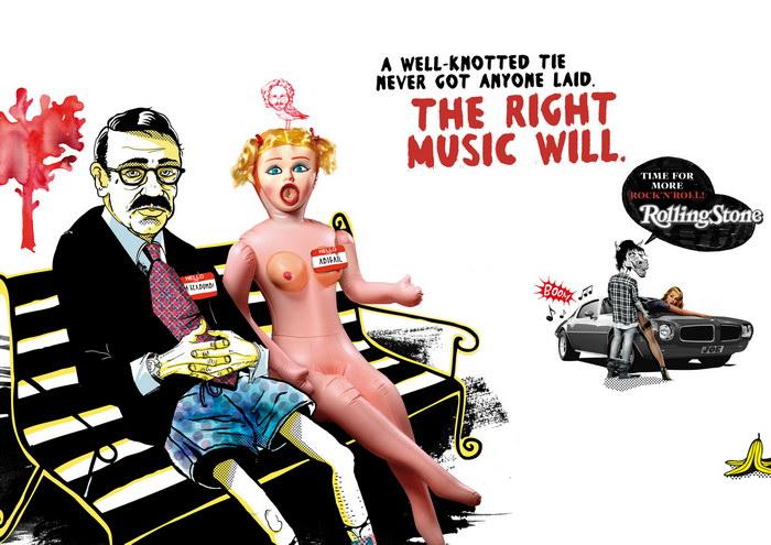滚石杂志平面广告