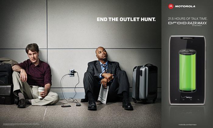 摩托罗拉手机平面广告