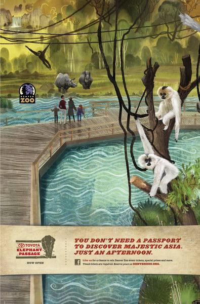 丹佛动物园平面广告