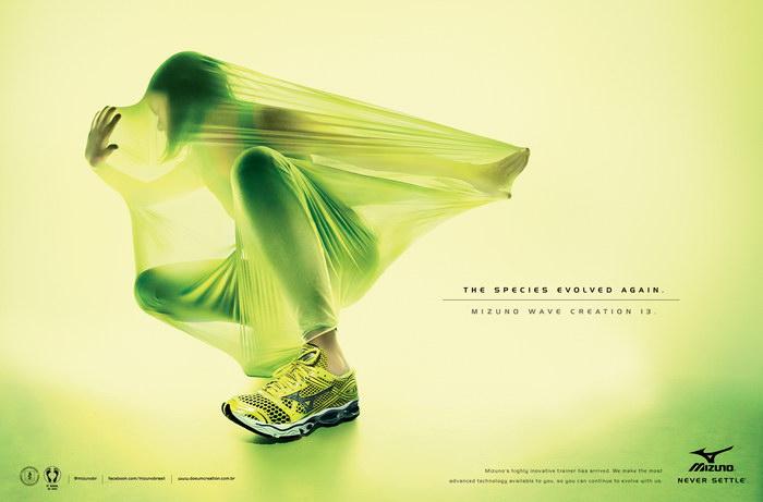 美津浓鞋平面广告