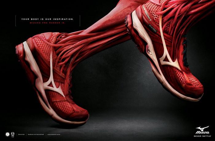 美津浓运动鞋平面广告