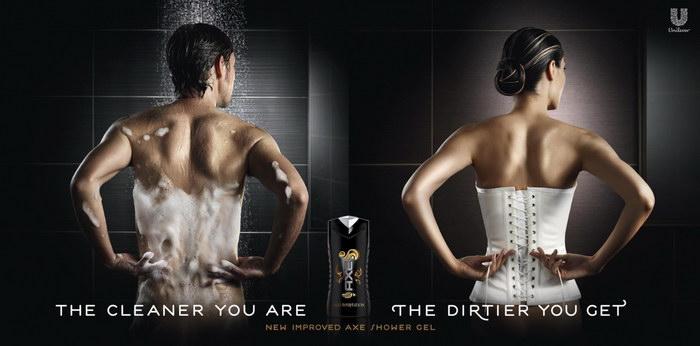 Axe沐浴液平面广告