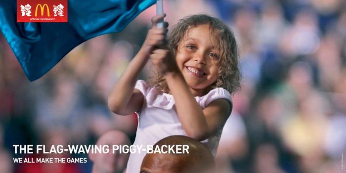 麦当劳奥运平面广告