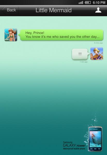 三星防水手机平面广告