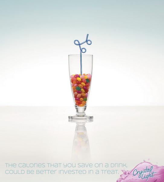 水晶灯饮料平面广告