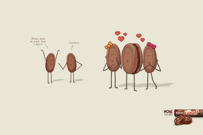 爱巧克力曲奇平面广告