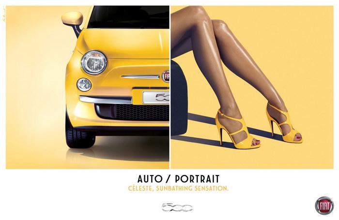菲亚特汽车平面广告