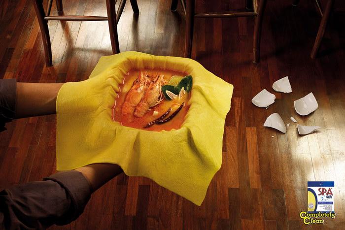 SPA清洁剂平面广告