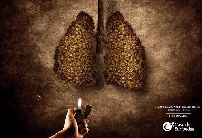 停止吸烟平面广告
