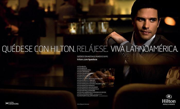 希尔顿酒店平面广告