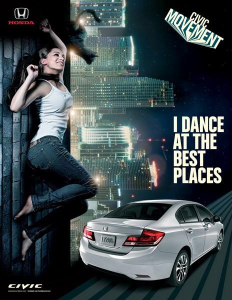 本田汽车平面广告