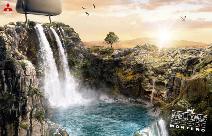 三菱汽车平面广告