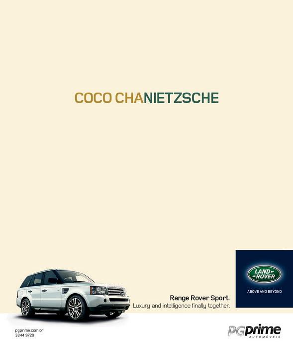路虎汽车平面广告
